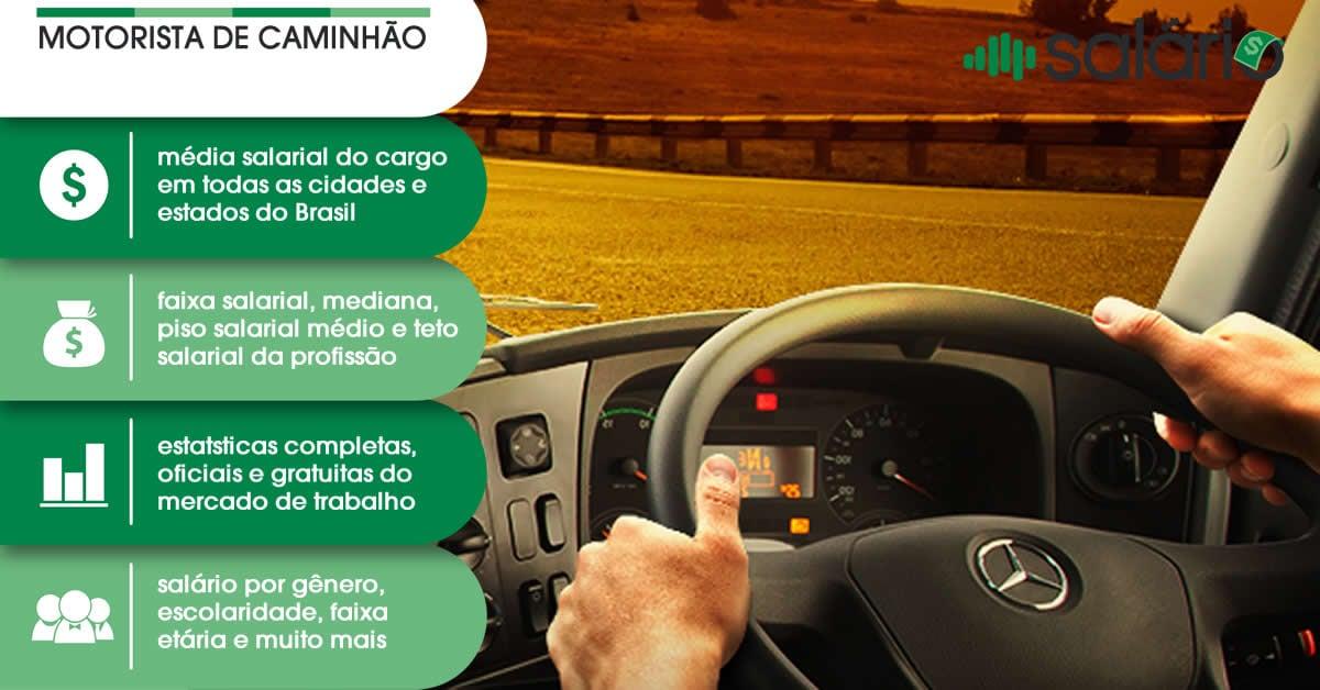 Salário e mercado de trabalho para Motorista de Caminhão