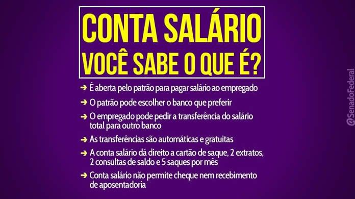 O que é conta salario