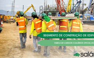 Tabela Cargos e salários na construção de edifícios
