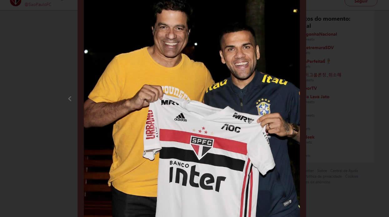 Daniel Alves no SPFC e seu salario