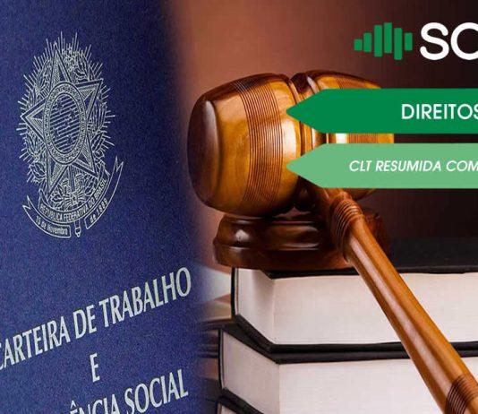 CLT resumida, compilada e atualizada com os principais direitos trabalhistas